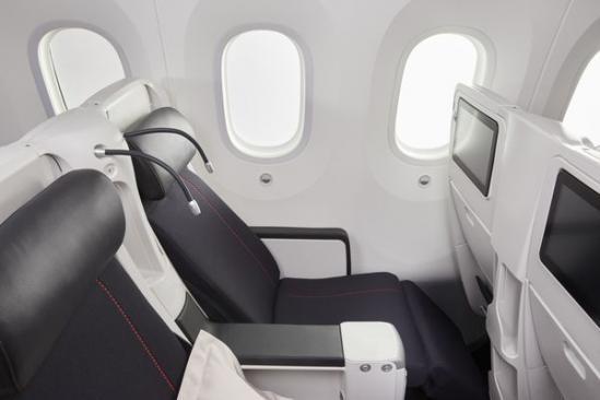 Calme et sérénité en cabine Premium Economy