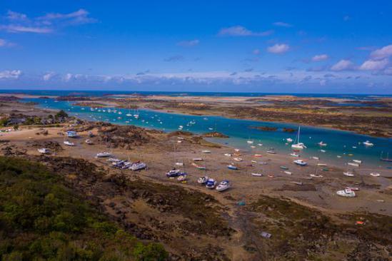 L'archipel de Chausey vu du ciel !