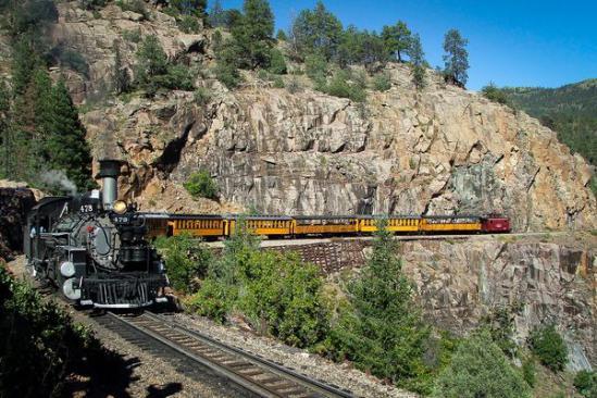 Durango & Silverton Narrow Gauge Railroad, à toute vapeur